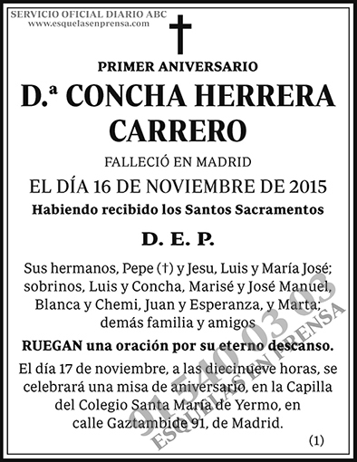 Concha Herrera Carrero